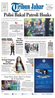 Cover Tribun Jabar 23 Maret 2019