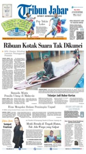 Cover Tribun Jabar 17 April 2019