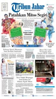 Cover Tribun Jabar 24 April 2019