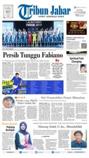 Cover Tribun Jabar 12 Mei 2019