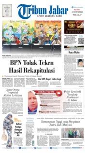 Cover Tribun Jabar 14 Mei 2019
