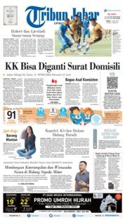 Cover Tribun Jabar 14 Juni 2019