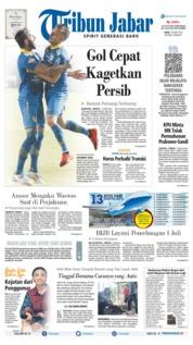 Cover Tribun Jabar 19 Juni 2019