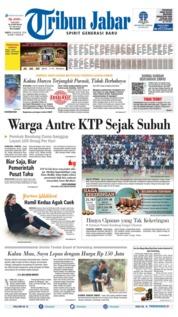 Tribun Jabar Cover 10 August 2019