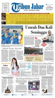 Cover Tribun Jabar 19 September 2019
