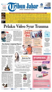 Cover Tribun Jabar 21 September 2019