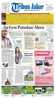 Tribun Jabar Cover 28 September 2019