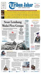 Cover Tribun Jabar 13 Oktober 2019