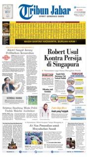 Cover Tribun Jabar 15 Oktober 2019