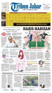 Cover Tribun Jabar 18 Oktober 2019