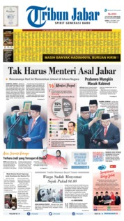 Tribun Jabar Cover 21 October 2019