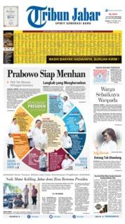 Cover Tribun Jabar 22 Oktober 2019