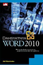 Dahsyatnya Word 2010 by Adi Kusrianto Cover