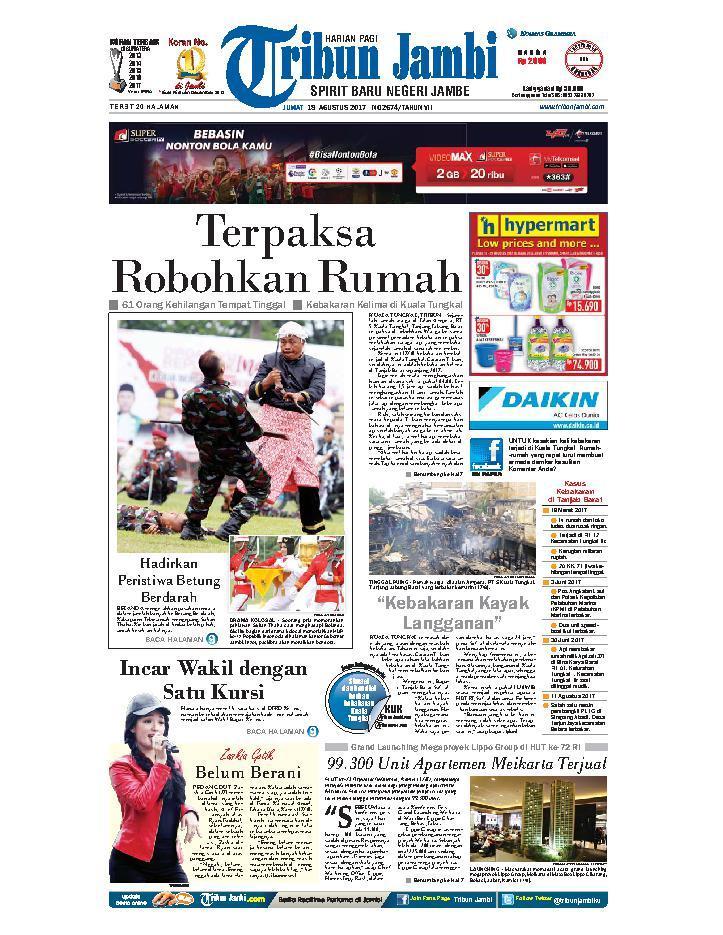 Koran Digital Tribun Jambi 18 Agustus 2017