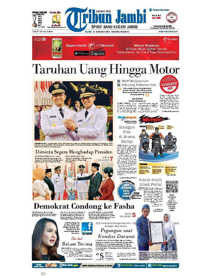 Koran Digital Tribun Jambi 17 Oktober 2017