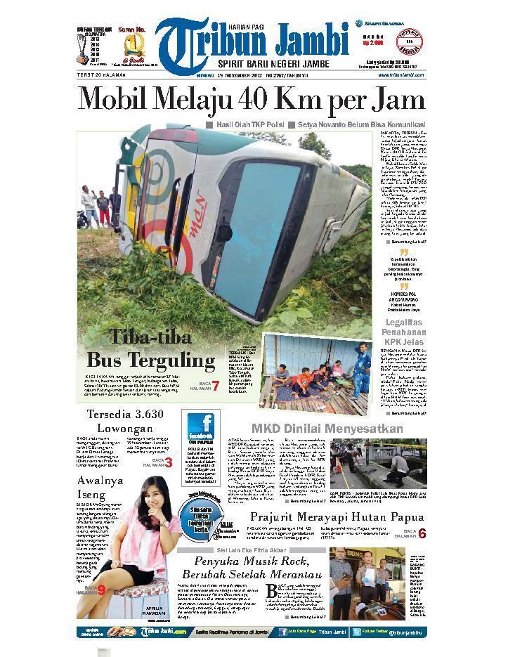 Koran Digital Tribun Jambi 19 November 2017