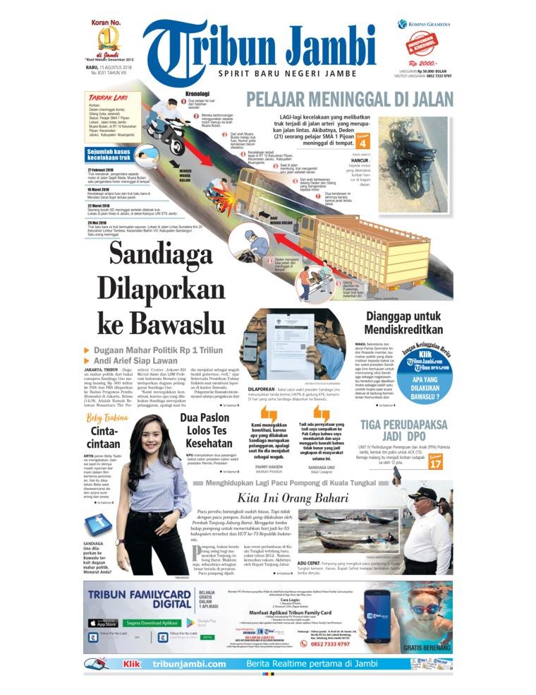 Koran Digital Tribun Jambi 15 Agustus 2018