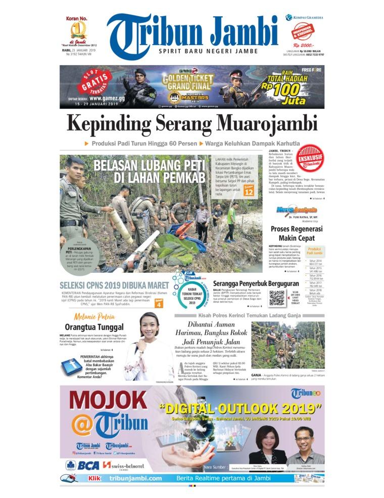 Koran Digital Tribun Jambi 23 Januari 2019