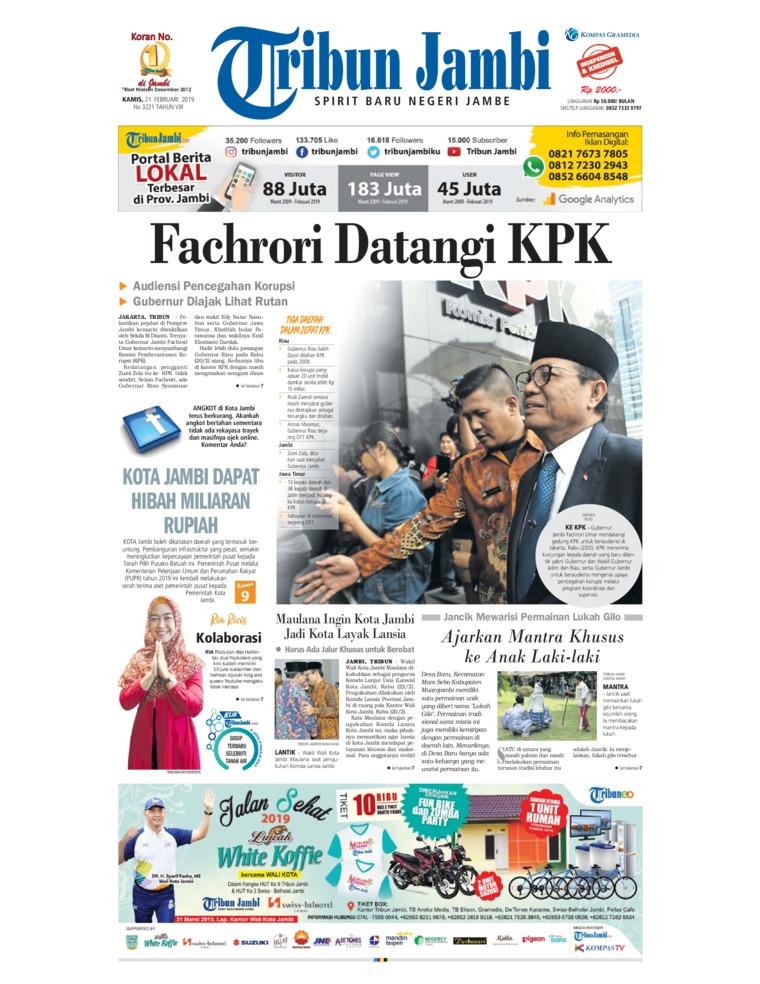 Koran Digital Tribun Jambi 21 Februari 2019