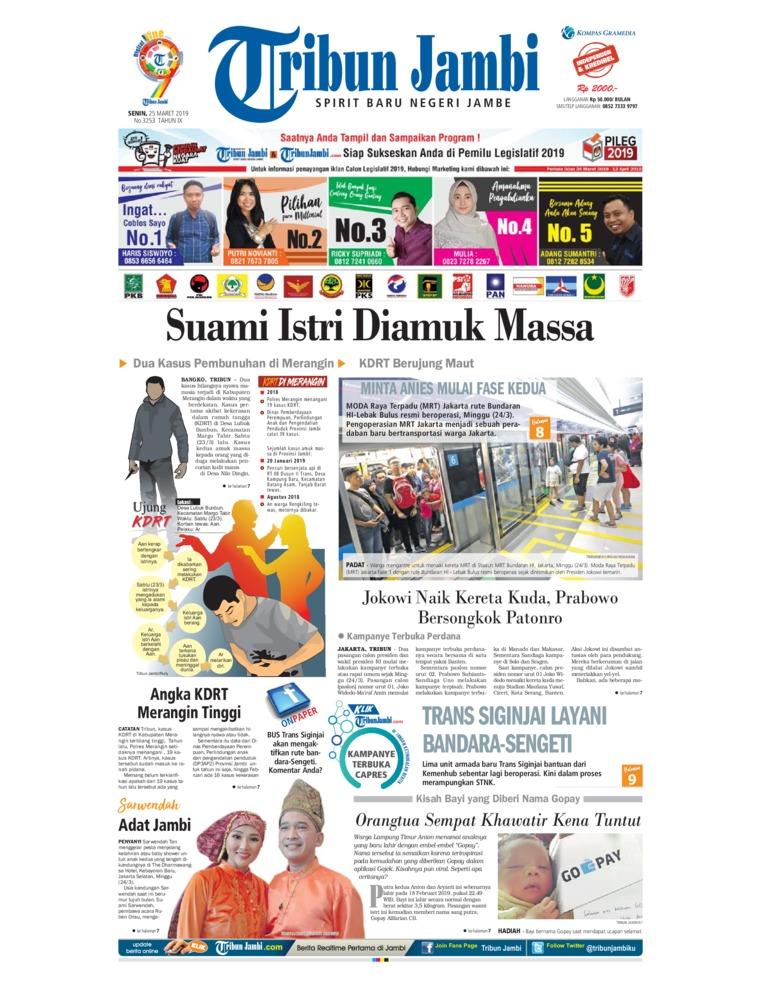 Koran Digital Tribun Jambi 25 Maret 2019
