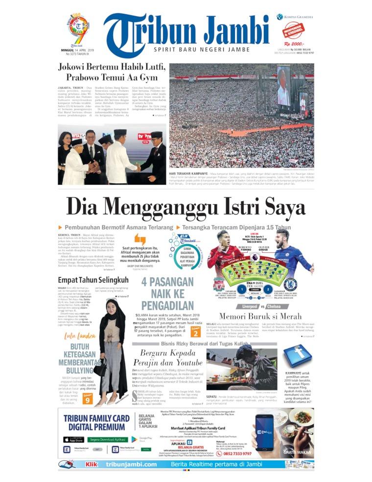 Koran Digital Tribun Jambi 14 April 2019