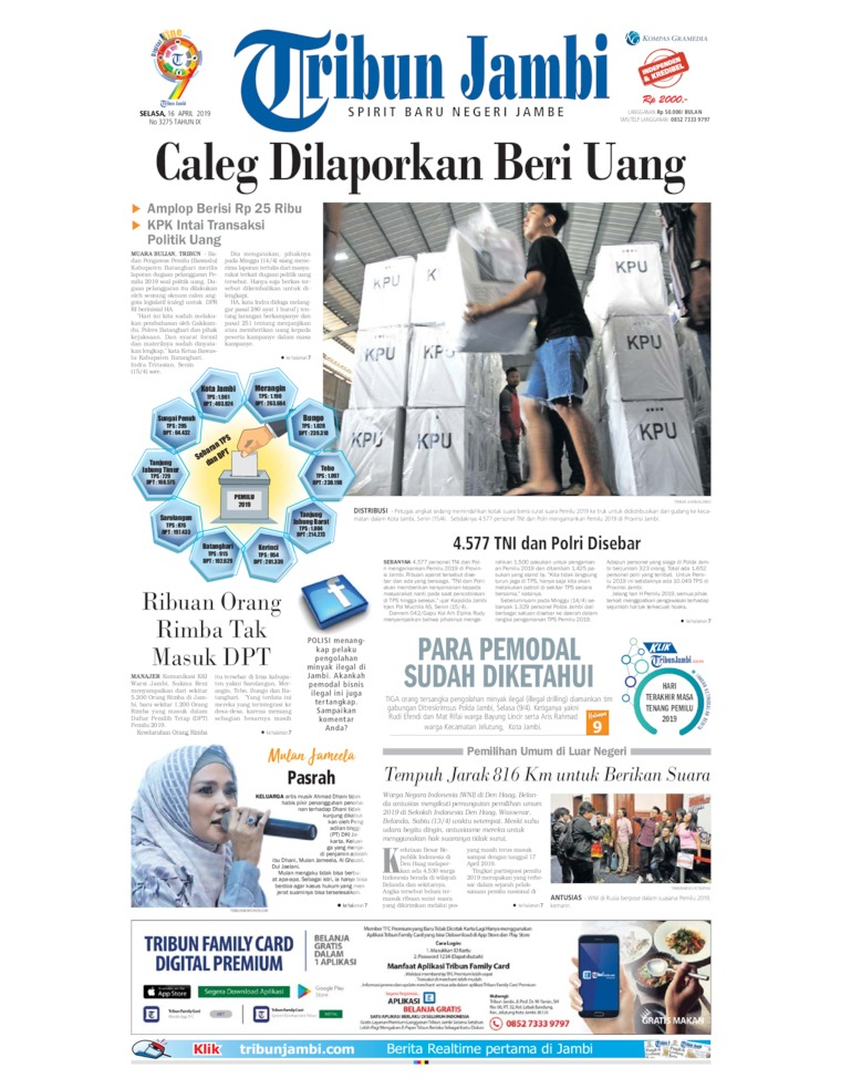 Tribun Jambi Digital Newspaper 16 April 2019
