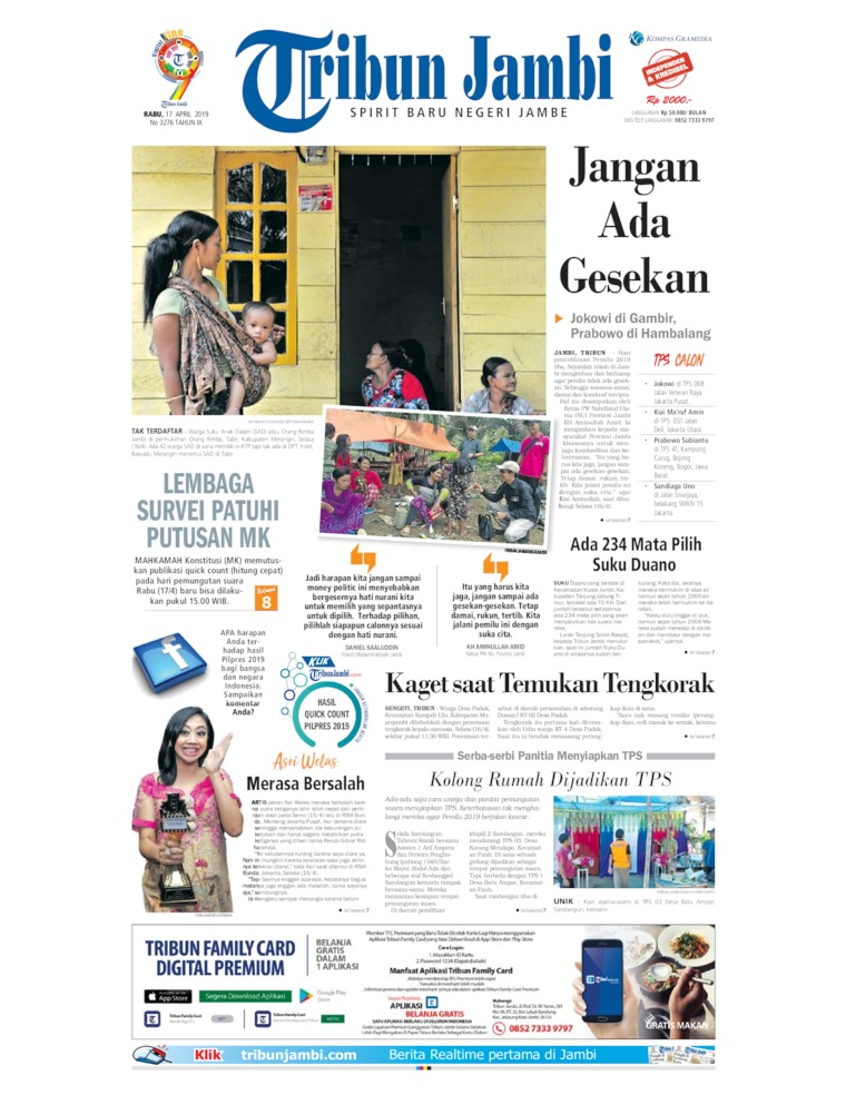 Koran Digital Tribun Jambi 17 April 2019
