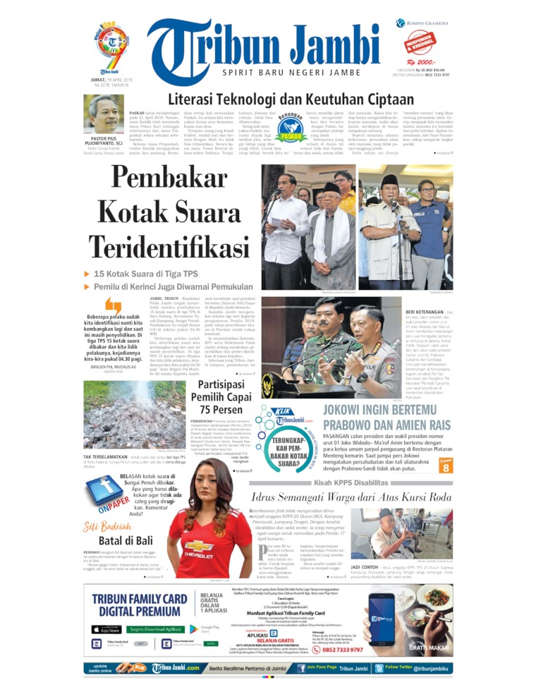 Koran Digital Tribun Jambi 19 April 2019