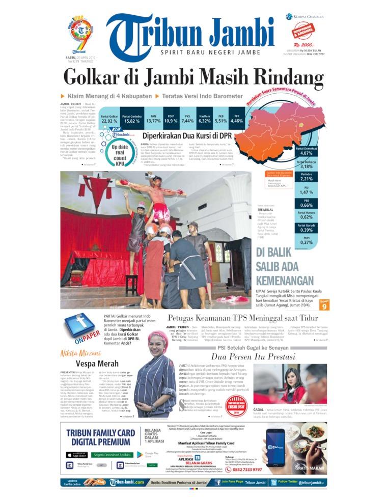 Koran Digital Tribun Jambi 20 April 2019