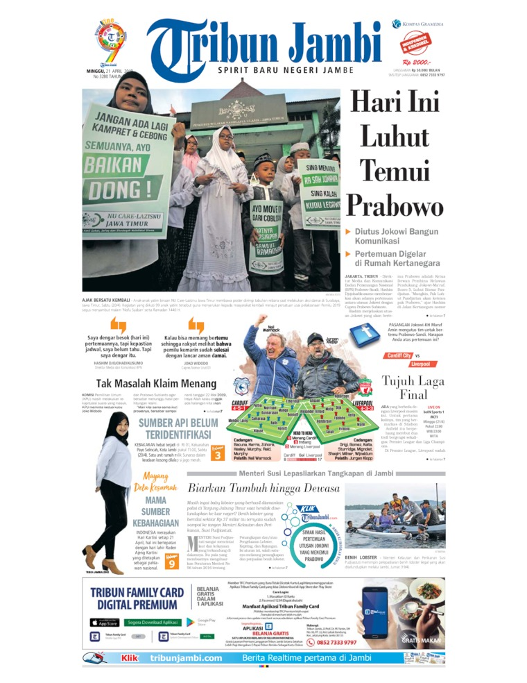 Tribun Jambi Digital Newspaper 21 April 2019