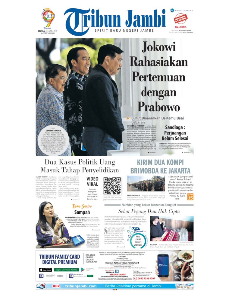 Tribun Jambi Digital Newspaper 23 April 2019