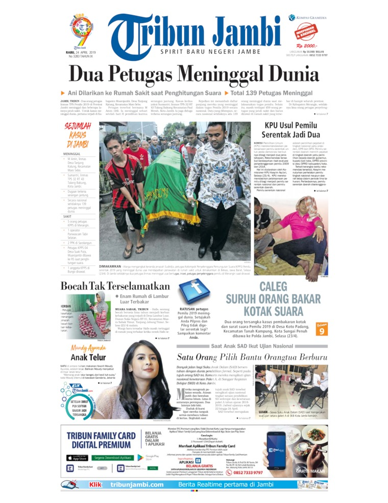Tribun Jambi Digital Newspaper 24 April 2019