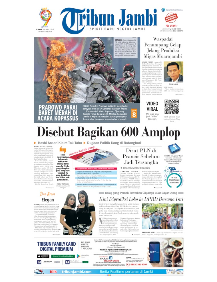 Tribun Jambi Digital Newspaper 25 April 2019