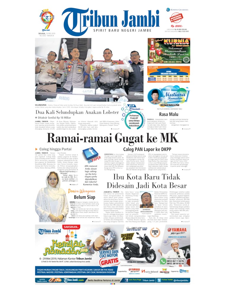 Koran Digital Tribun Jambi 14 Mei 2019