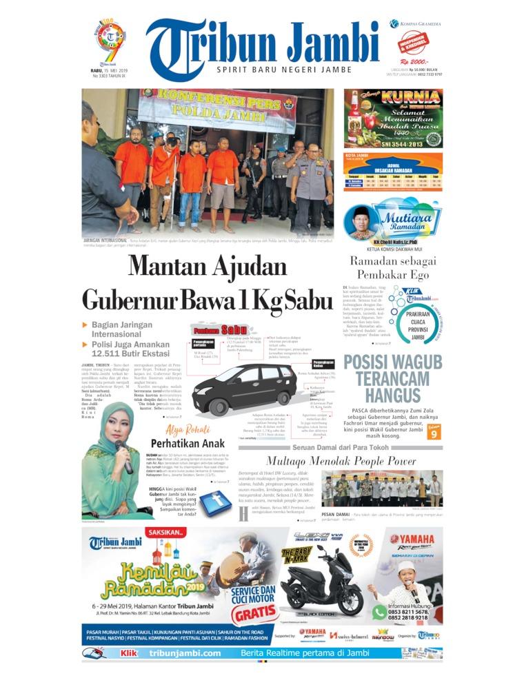 Tribun Jambi Digital Newspaper 15 May 2019