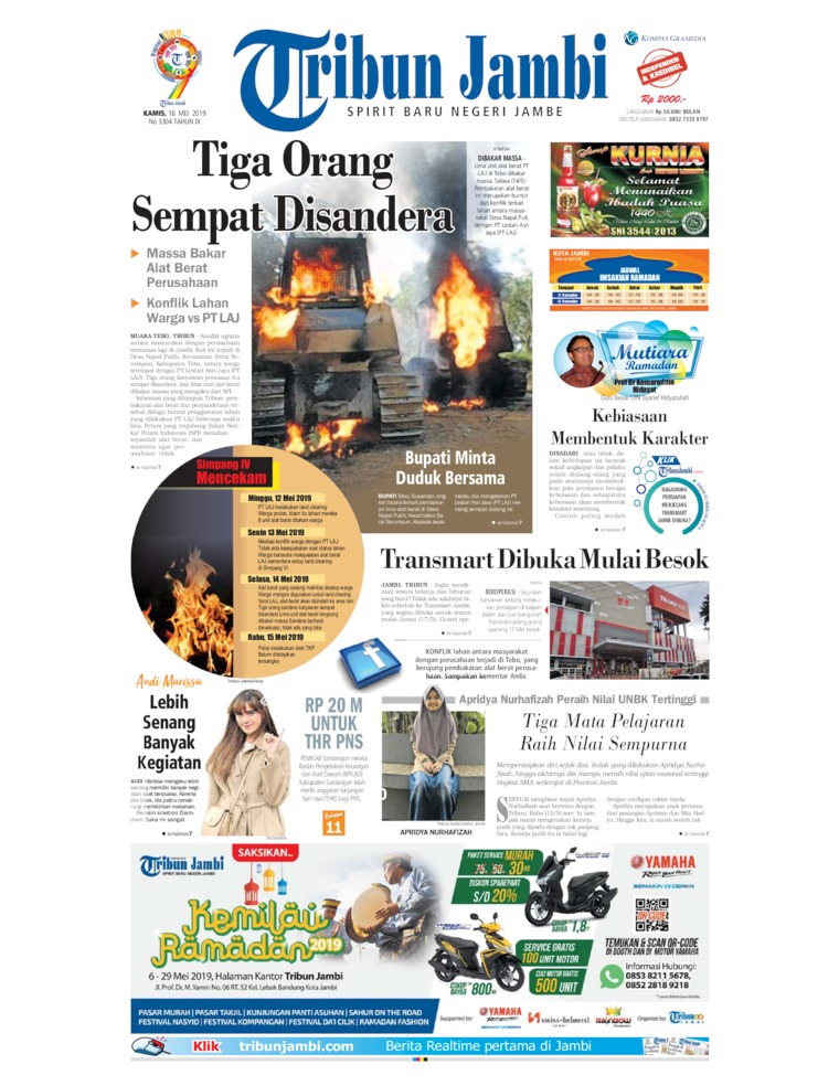 Tribun Jambi Digital Newspaper 16 May 2019
