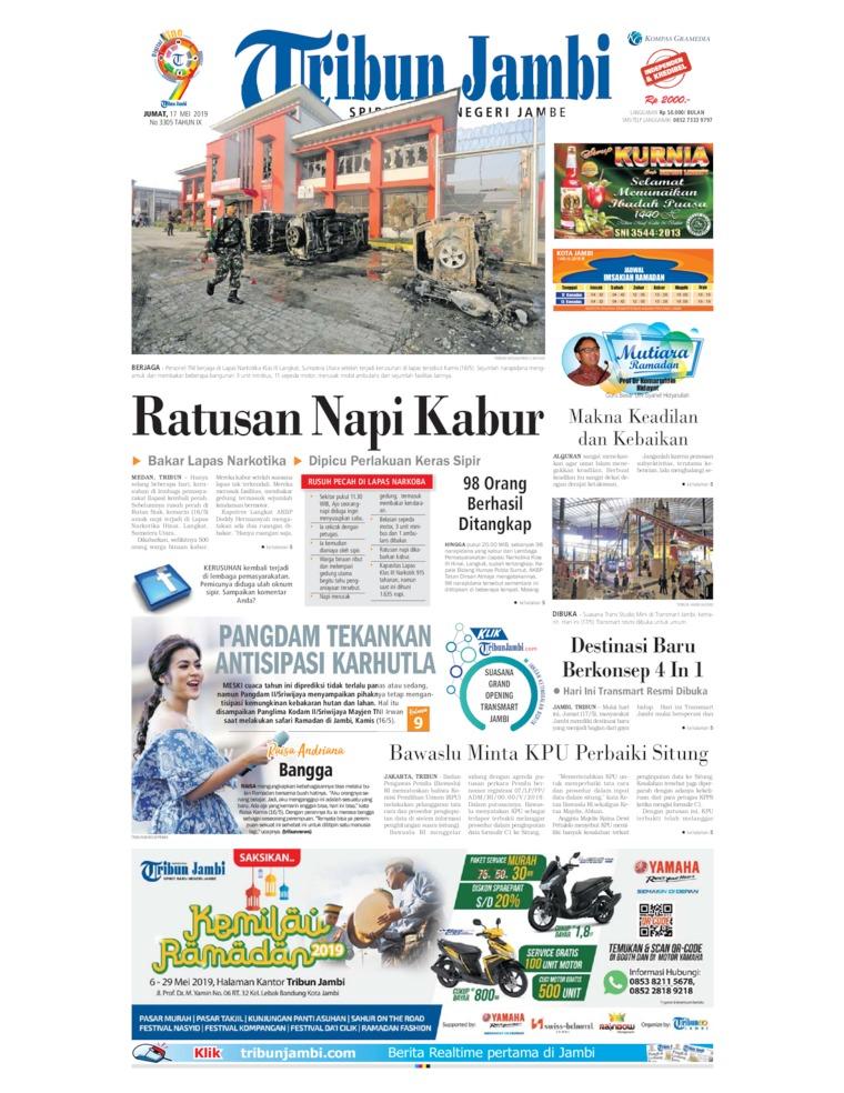 Tribun Jambi Digital Newspaper 17 May 2019