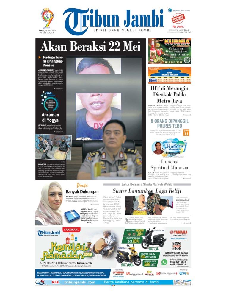 Tribun Jambi Digital Newspaper 18 May 2019