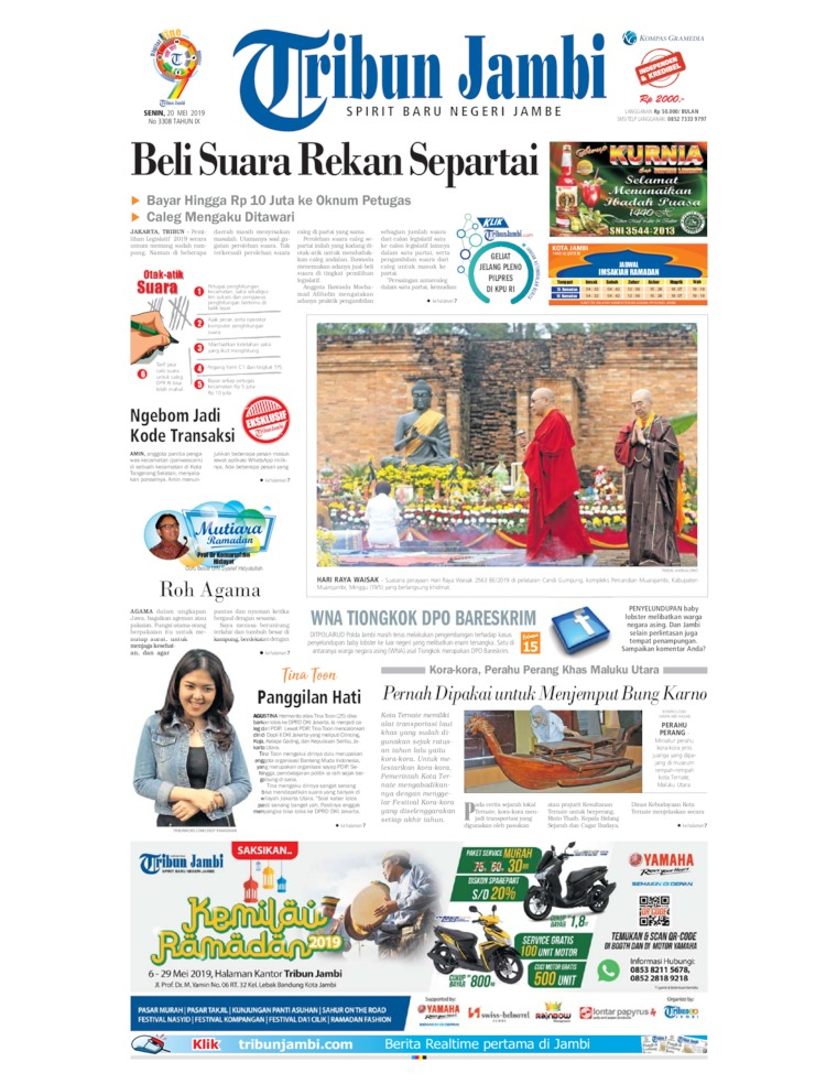 Koran Digital Tribun Jambi 20 Mei 2019