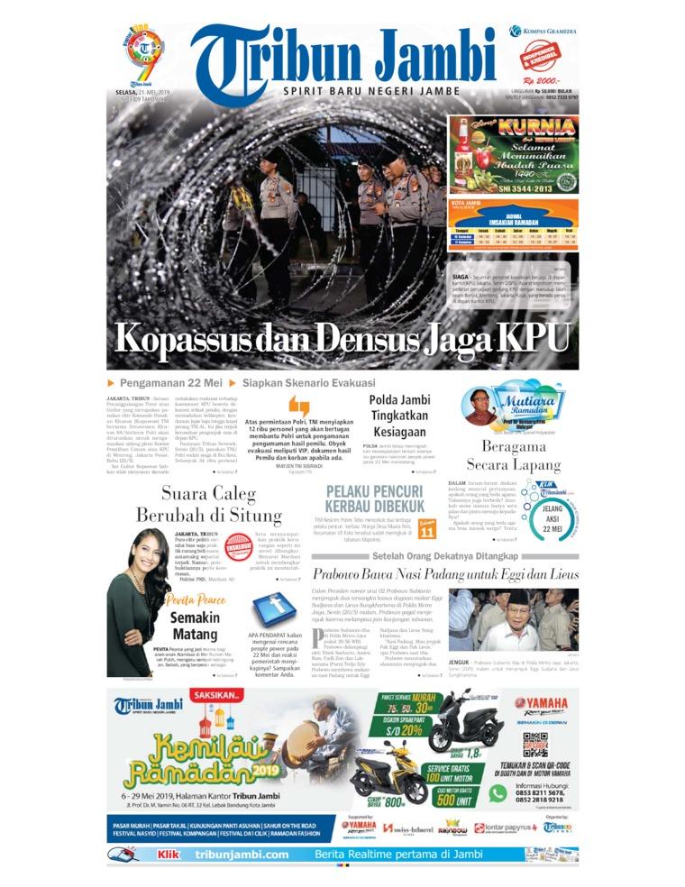 Koran Digital Tribun Jambi 21 Mei 2019
