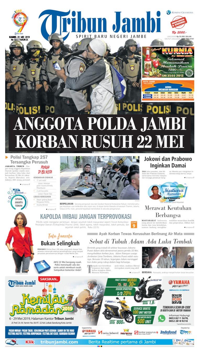 Koran Digital Tribun Jambi 23 Mei 2019