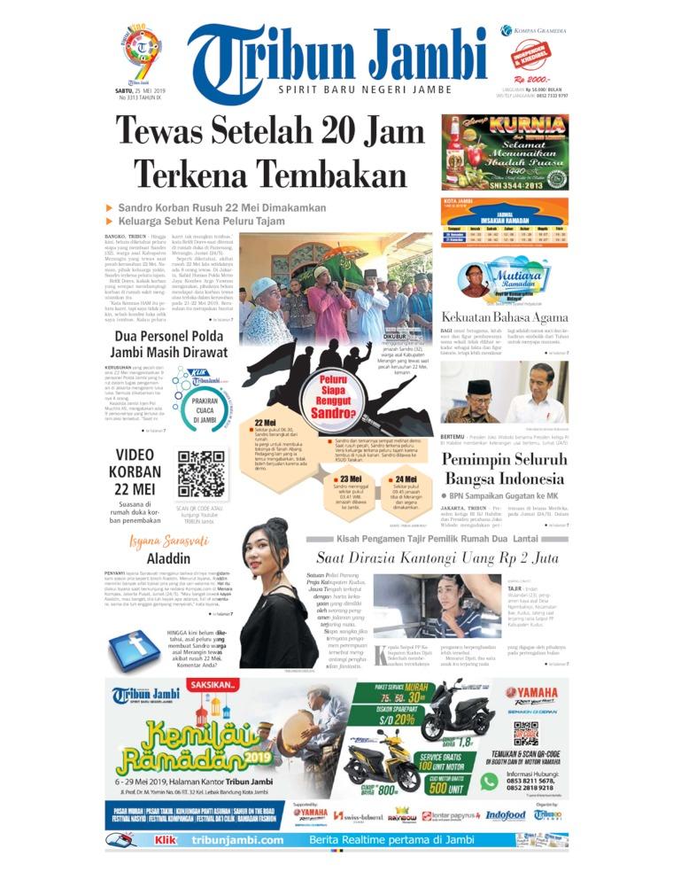 Koran Digital Tribun Jambi 25 Mei 2019