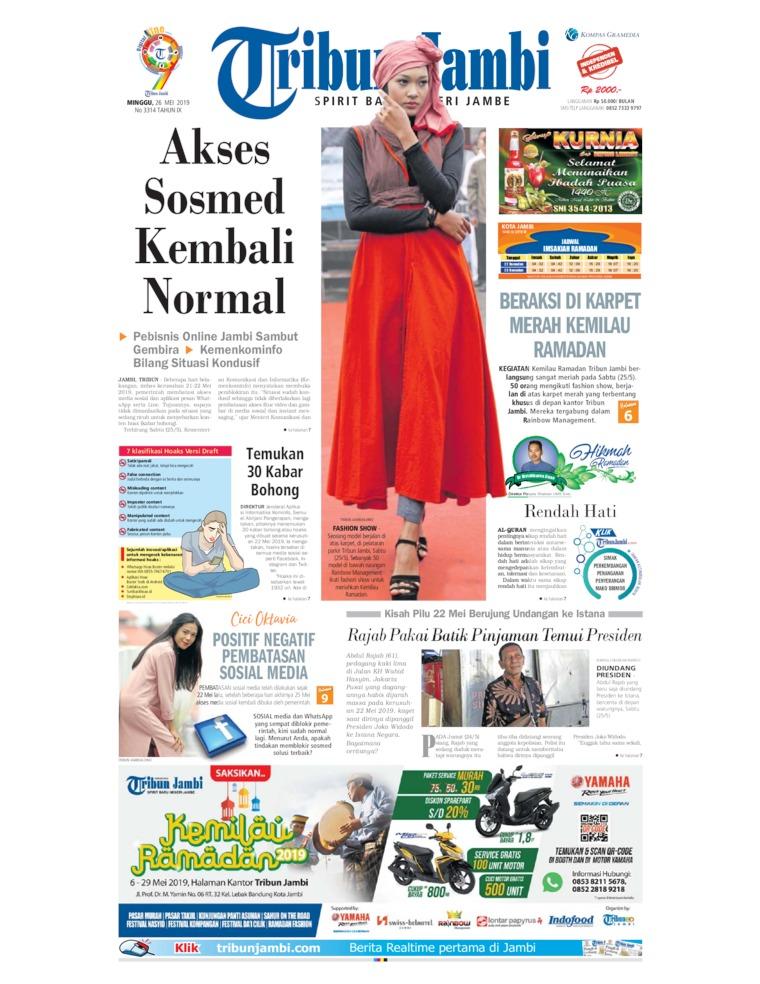 Koran Digital Tribun Jambi 26 Mei 2019