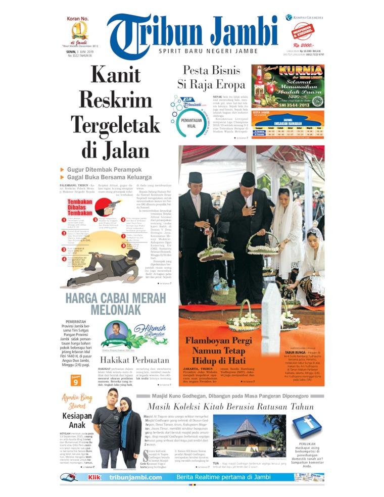 Tribun Jambi Digital Newspaper 03 June 2019