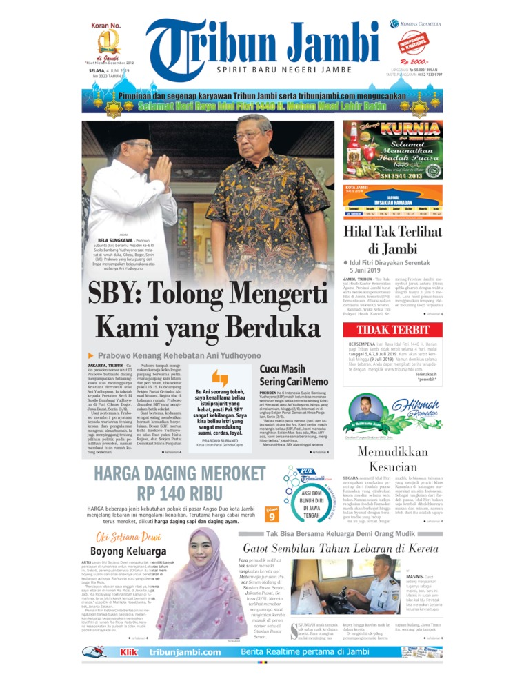 Tribun Jambi Digital Newspaper 04 June 2019