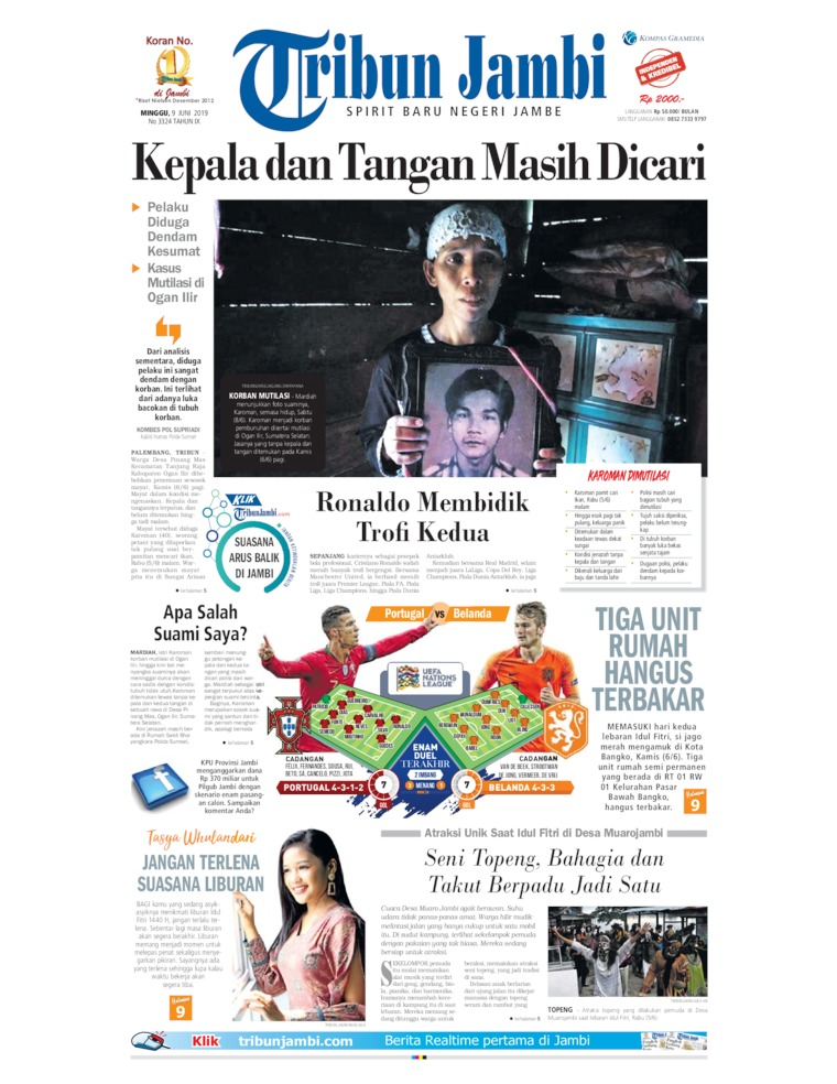 Tribun Jambi Digital Newspaper 09 June 2019