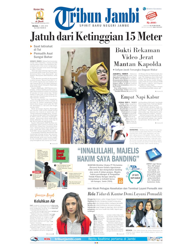 Tribun Jambi Digital Newspaper 11 June 2019