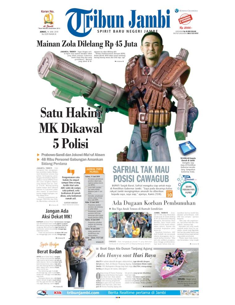 Tribun Jambi Digital Newspaper 14 June 2019