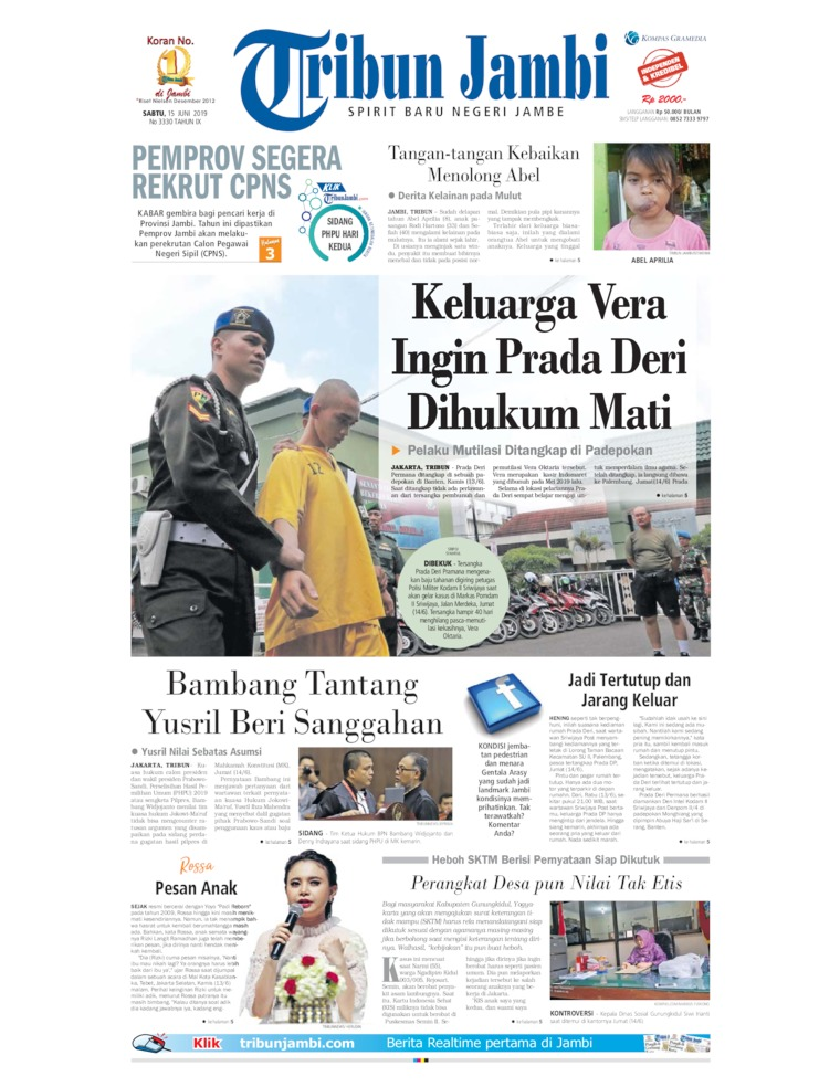 Tribun Jambi Digital Newspaper 15 June 2019