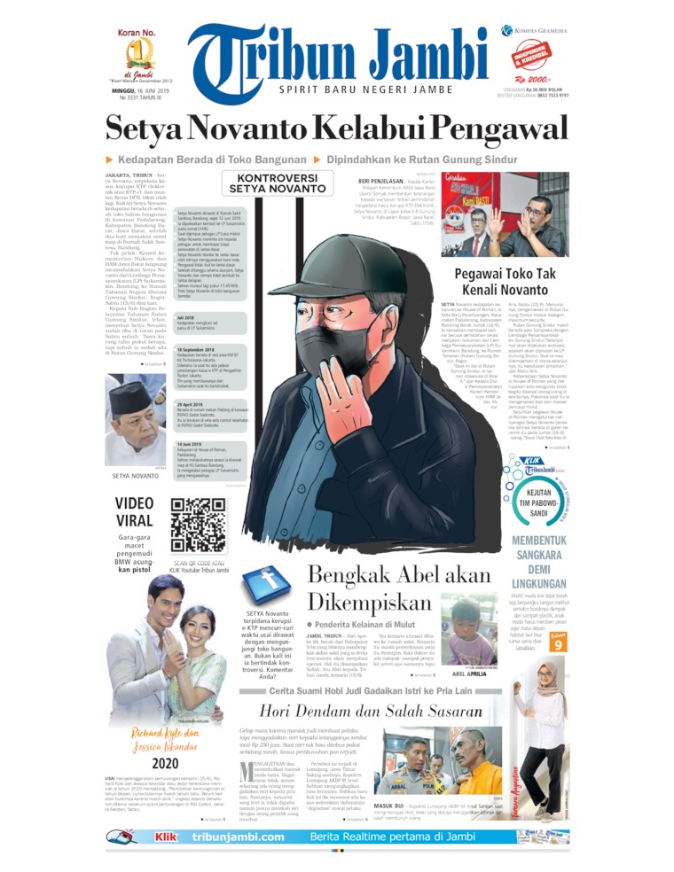 Tribun Jambi Digital Newspaper 16 June 2019